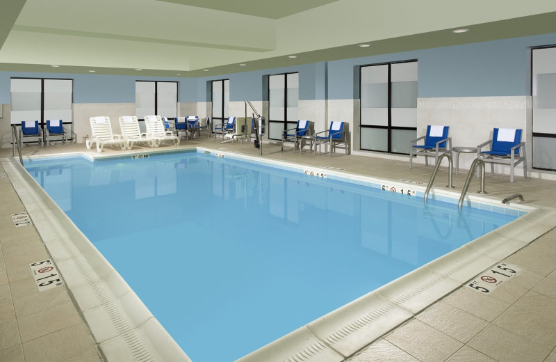 Indoor pool at Holiday Inn Express