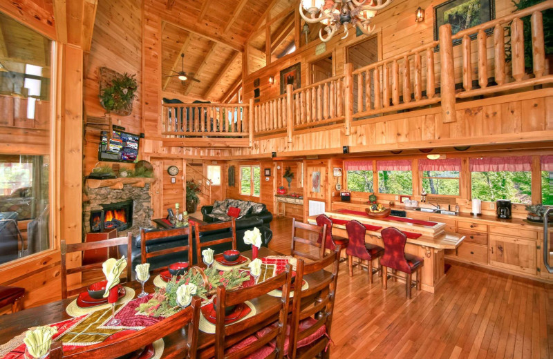 Rental interior at American Mountain Rentals.