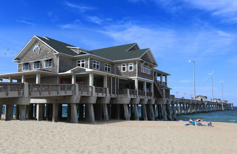 Fishing pier at Southern Shores Realty.