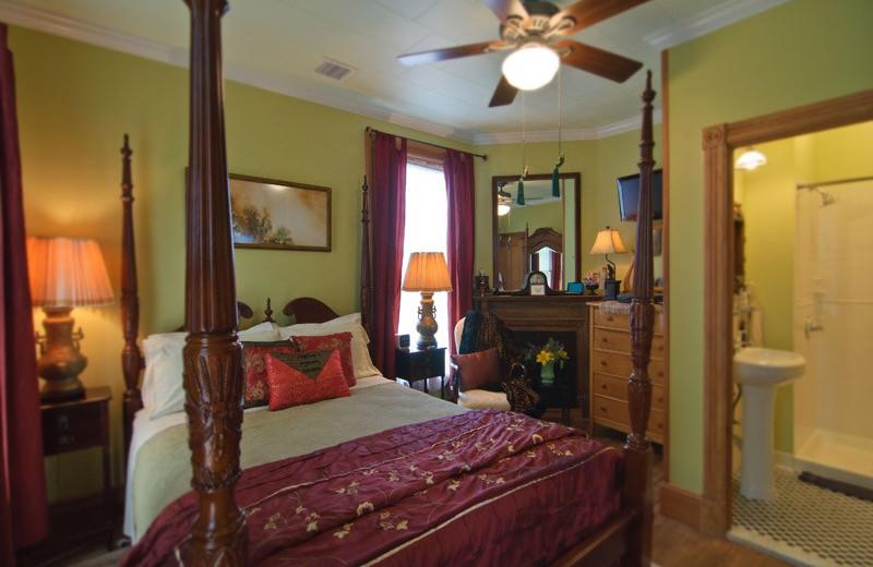 Guest room at Shorecrest Beach House.