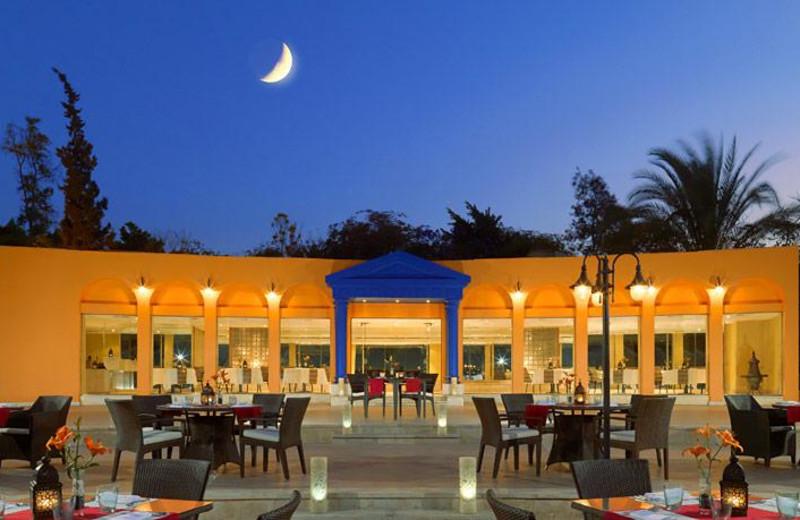 Patio dining at Fairmont Heliopolis.