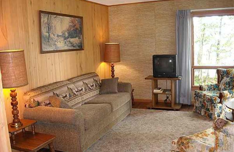 Cabin Living Room at Kafka's Resort