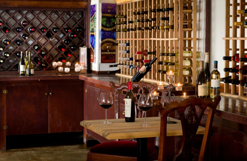 Wine cellar at HideAway Country Inn.