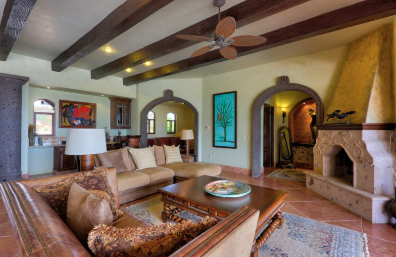 Living room at Casa Mar y Estrella.