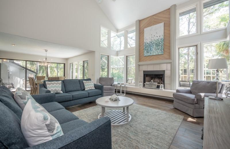 Rental living room at Vacation Rental Pros - Hilton Head Island.