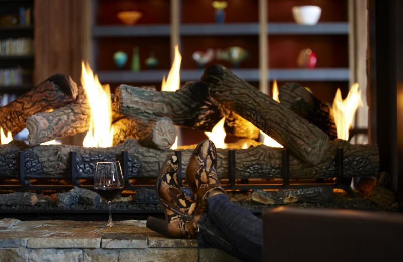 Relaxing by the fire at The Westin Riverfront Resort & Spa.
