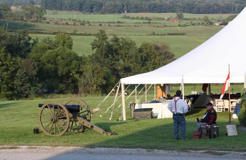 Civil war reenactment at The Lodges at Gettysburg.
