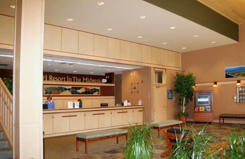 Lobby at Crystal Mountain Resort and Spa.