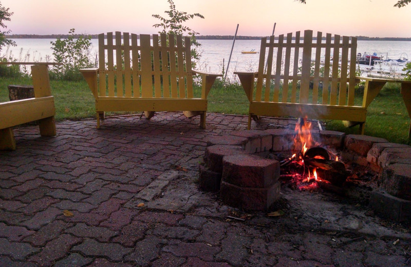 Bonfire at Woodlawn Resort.