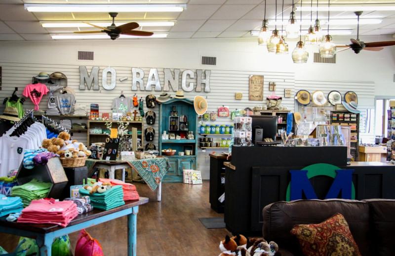 Gift store at Mo-Ranch.