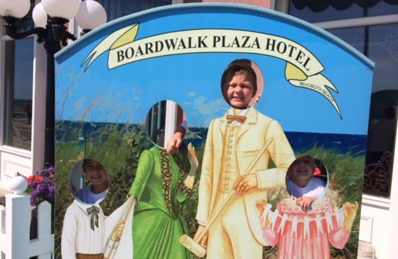 Family at Boardwalk Plaza Hotel.