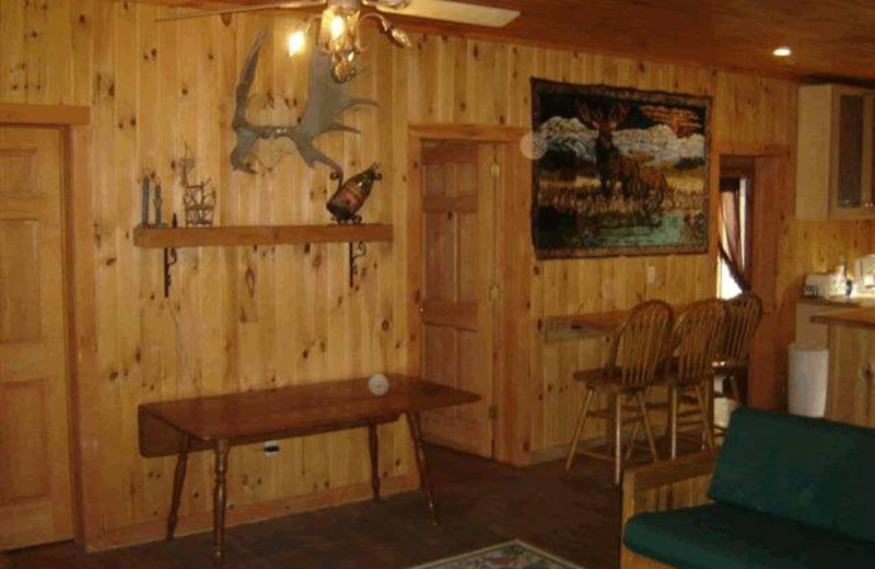 Interior view of Panther Lodging.