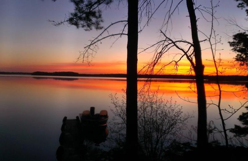 The lake at Northland Lodge.