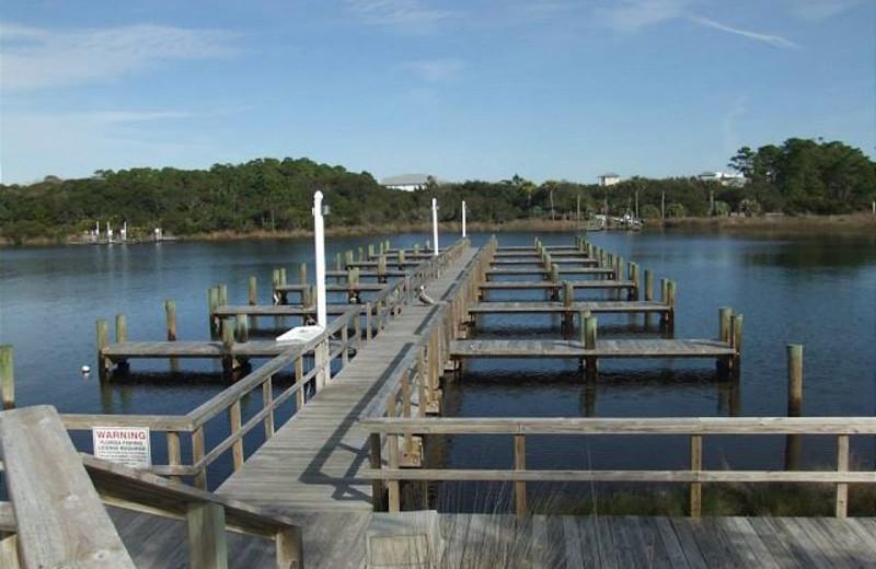 Docks at Carillon Beach Rentals.