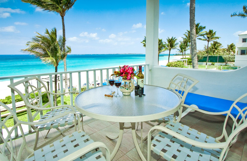 Guest balcony at Paradise Island Beach Club.