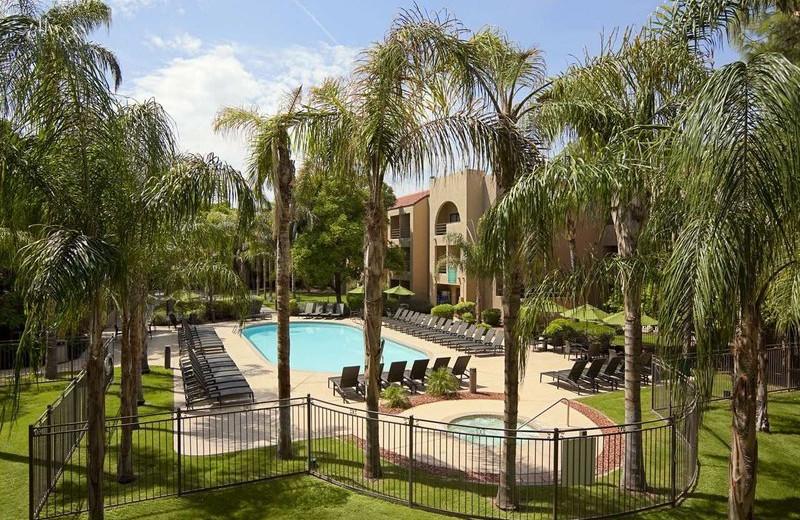 Outdoor pool at Embassy Suites Phoenix - Tempe.