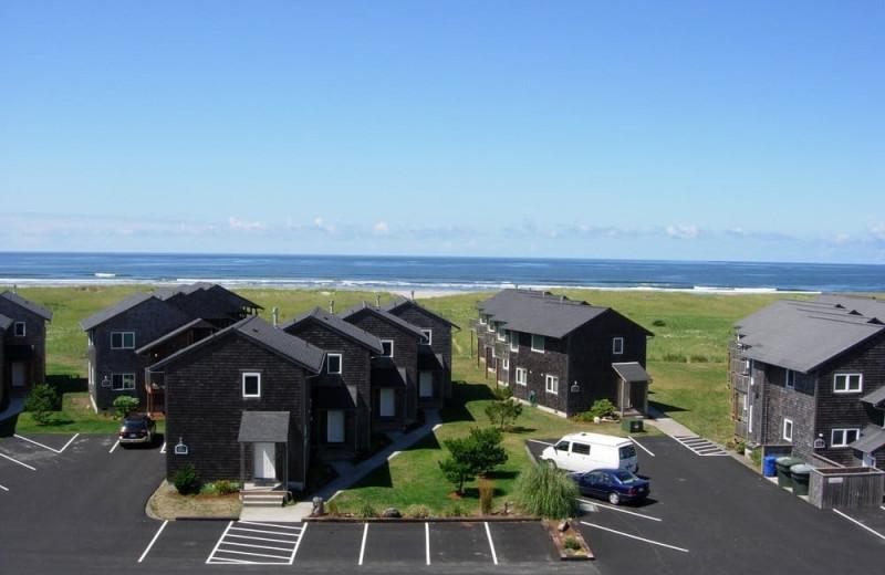 Exterior view of Lighthouse Oceanfront Resort.