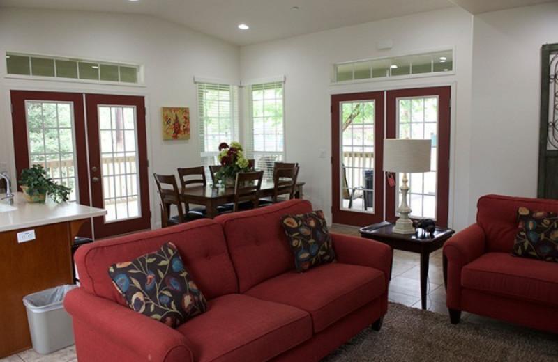 Guest living room at Wonder Valley Ranch Resort.