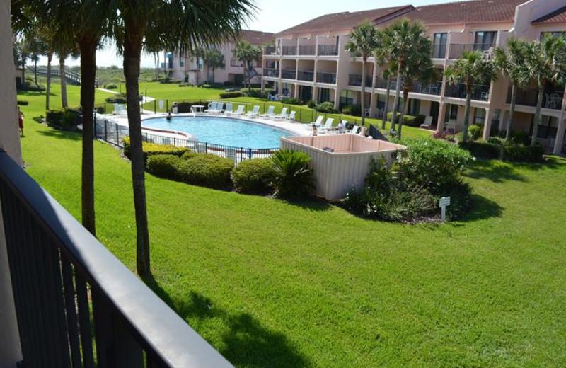 Rental exterior at St. Augustine Beach Vacation Rentals.