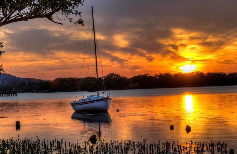 Sunset at Inks Lake State Park.