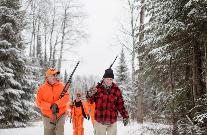 Hunting at Skyport Lodge.