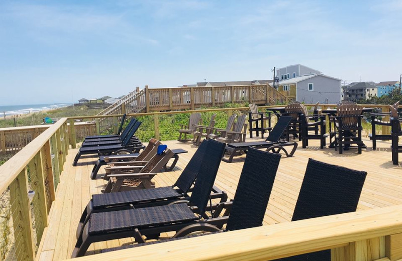 Sun chairs at Ramada Plaza Nags Head Oceanfront.
