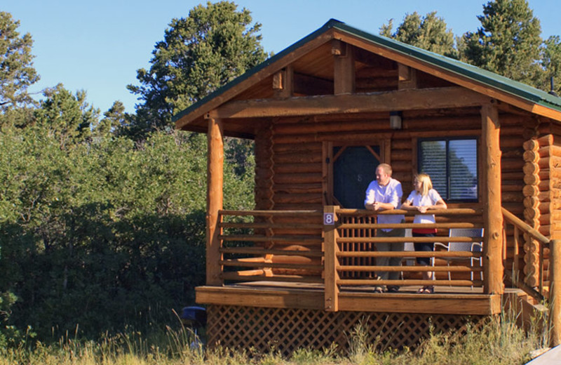 Couple at cabin suite at Zion Ponderosa Ranch.