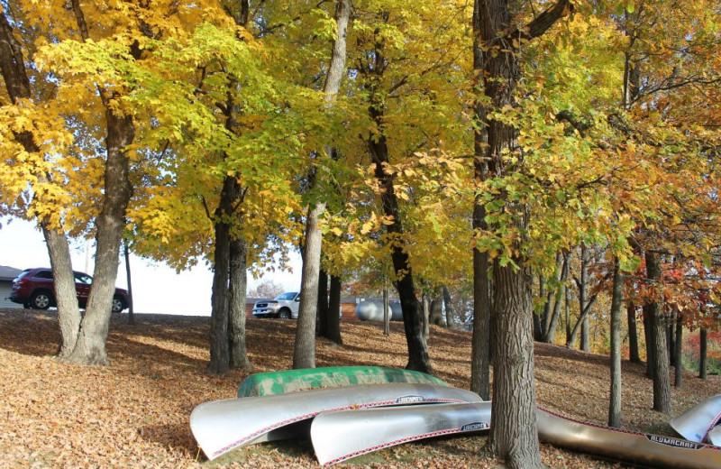 Canoeing at McQuoid's Inn & Event Center.