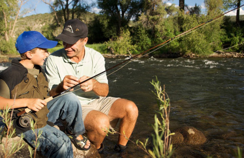 Fishing near The Charter at Beaver Creek.