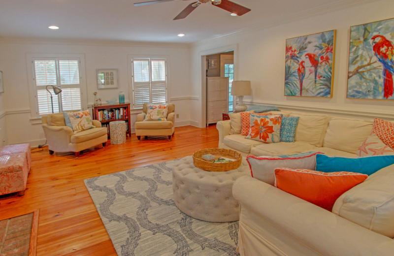 Living room at Forest Trail 286.