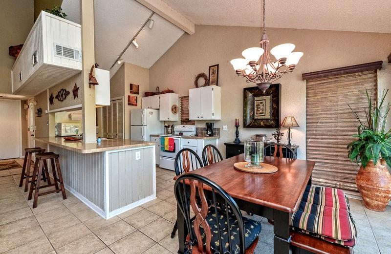 Rental kitchen at All Seasons Accommodations, Inc.