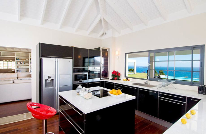 Villa kitchen at Island Properties Luxury Rentals.