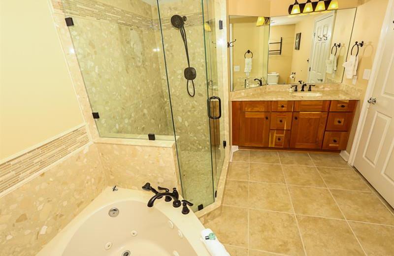 Rental bathroom at Sterling Shores.