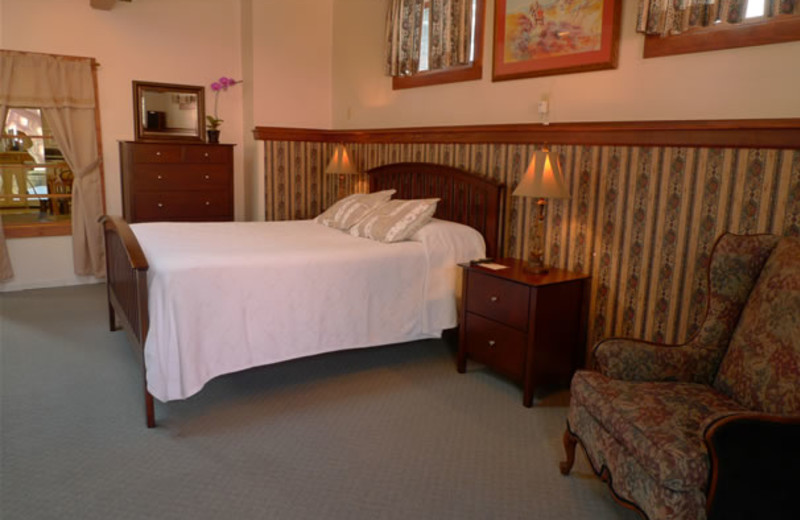 Guest room at Boulder Mountain Lodge.