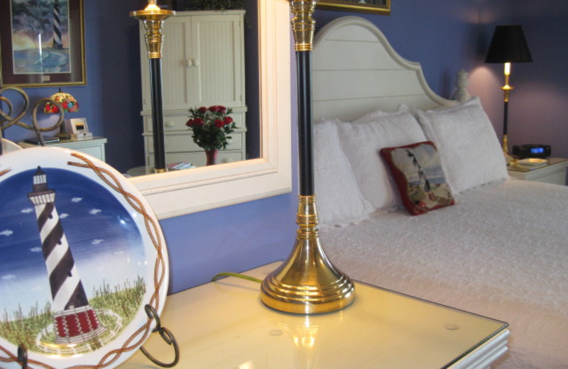 Guest room at The Sunset Inn.