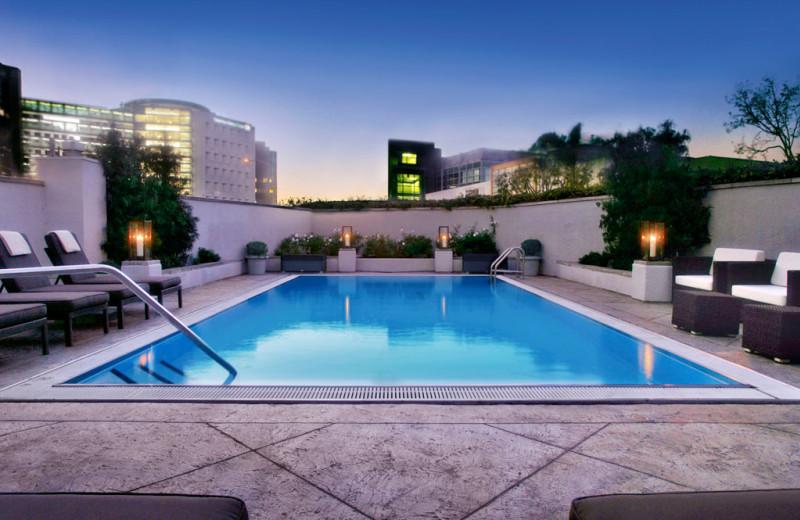 Outdoor pool at Sofitel Los Angeles.