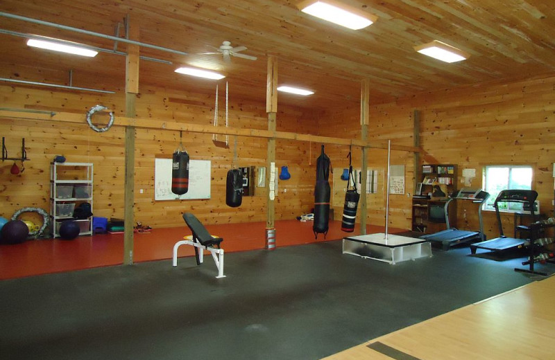 Fitness room at Elk Ridge Ranch.