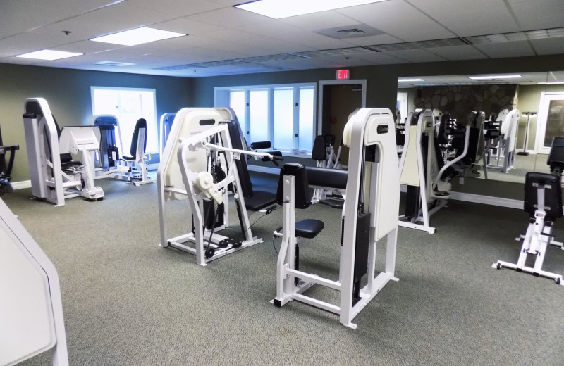 Fitness center at Garland Lodge and Resort.