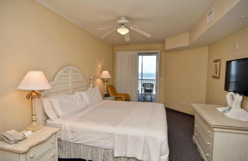 Rental bedroom at Tri Power Resort Rentals.
