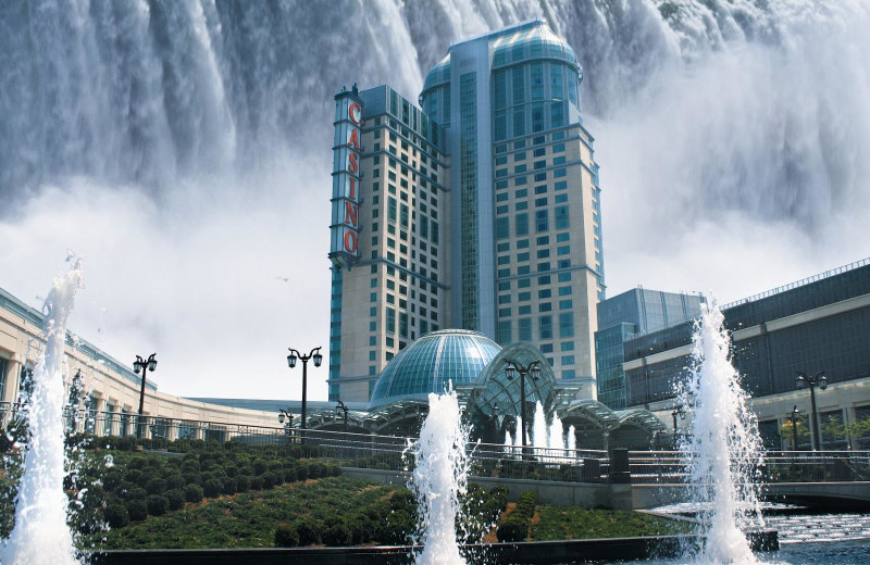 Exterior view of Niagara Fallsview Casino Resort.