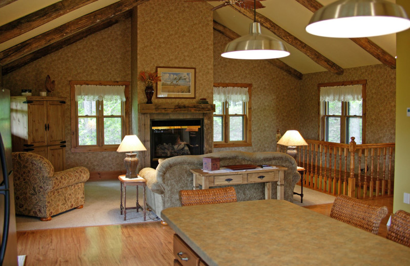 Guest living room at Chanticleer Guest House.