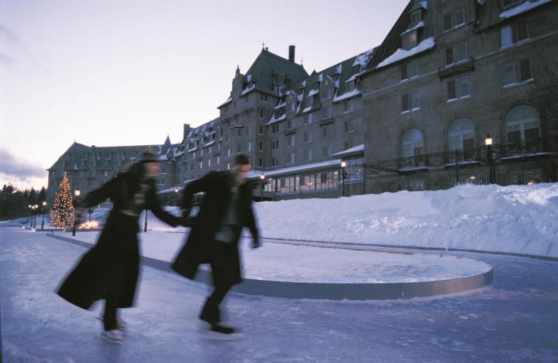 Ice skating at Fairmont Le Manoir Richelieu.