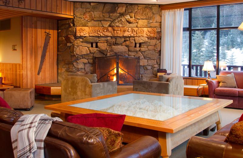 Lobby at Cariboos Lodge.