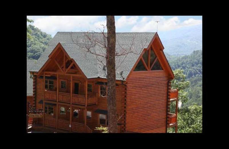 Cabin exterior at Eden Crest Vacation Rentals, Inc. - Poolin' Around Cabin Rental.