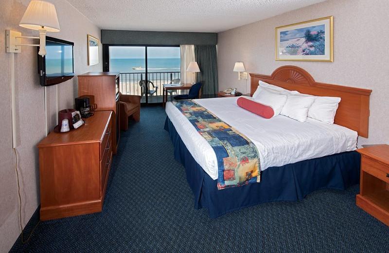 Ocean view guest room at Best Western PLUS Oceanfront Virginia Beach.