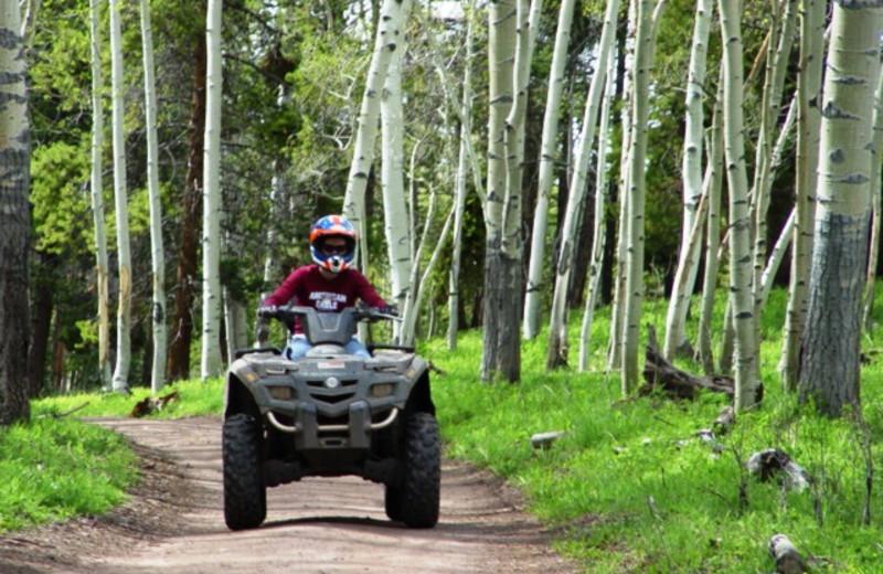ATV riding at Pinewoods Resort.