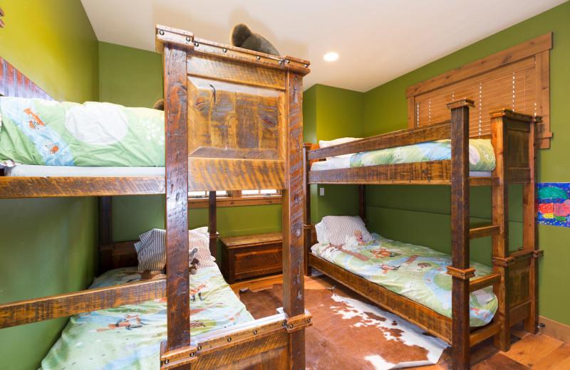 Rental bunk beds at Tahoe Getaways.
