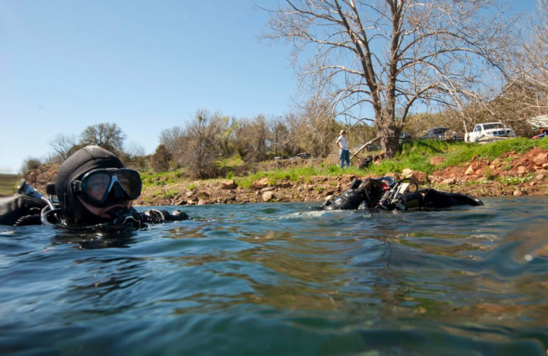 Diving at Reveille Peak Ranch.