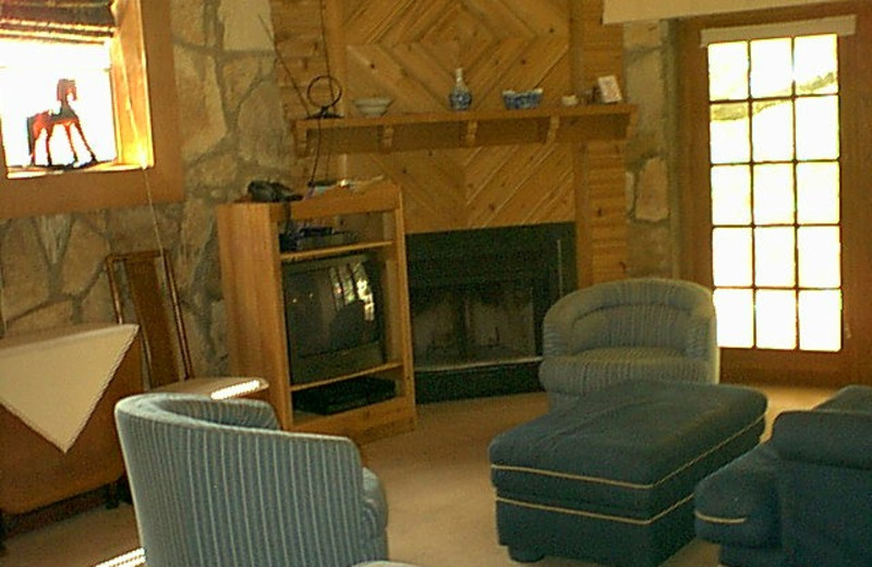 Cottage living room at A Long Stay.