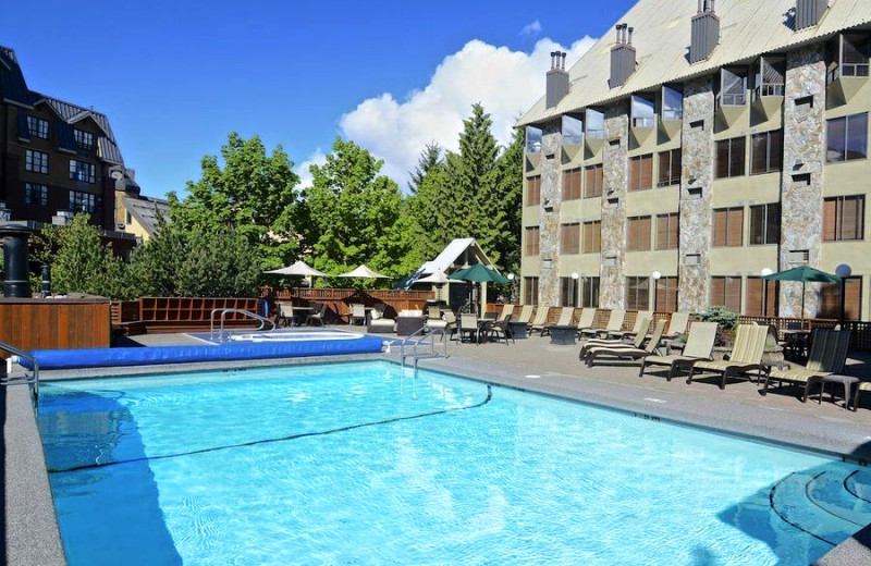 Outdoor pool at Executive Inn at Whistler Village.